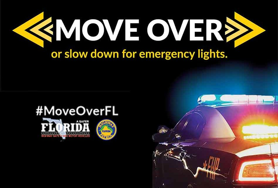 Move Over or slow down for emergency lights; Move Over Florida